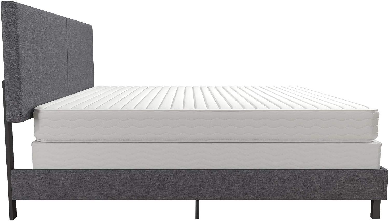 Gray DHP 4156449 Janford Upholstered Bed King