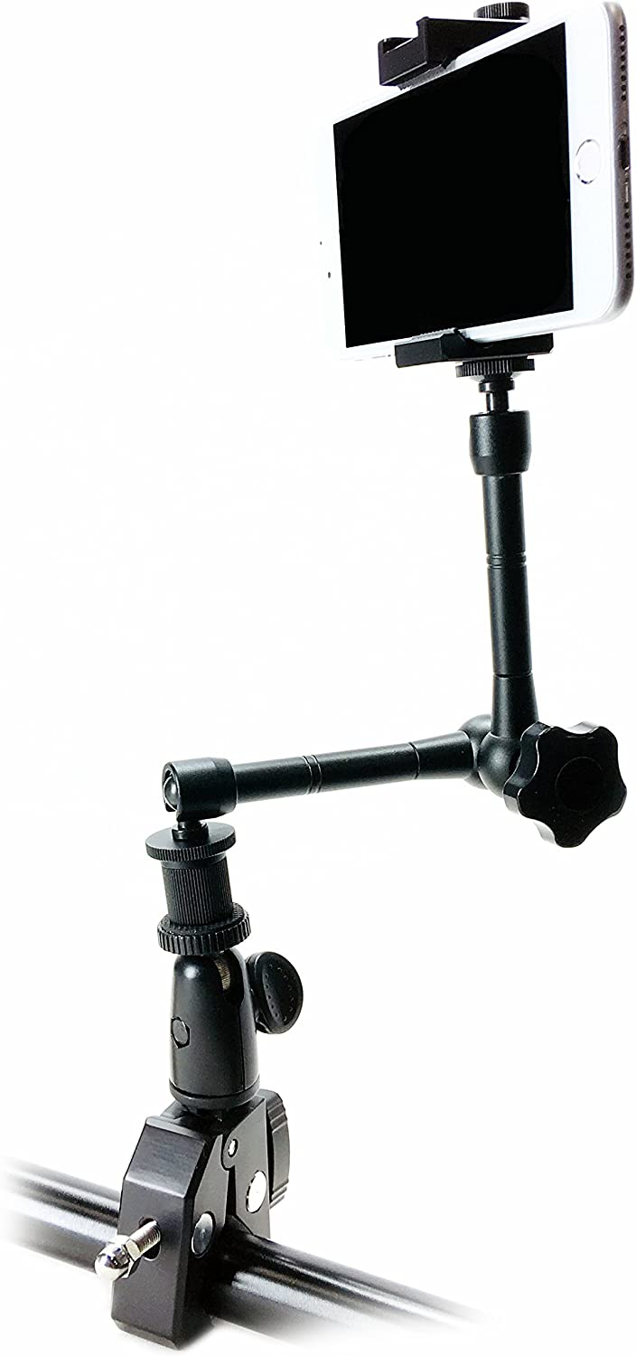 iShot Pro SecureGrip Metal iPhone Universal Smartphone Tripod Monopod Mount Adapter Holder 60 HD Pan Head Camera Tripod with Bag Bundle Kit Compatible with iPhone /& Smartphone 2.5-3.6 inches