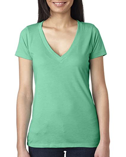 787f55306fc093 Next Level Triblend Deep Vee at Amazon Women s Clothing store