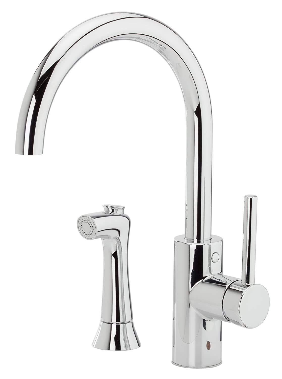 Pfister Solo 1-Handle Kitchen Faucet with Side Spray, Polished Chrome