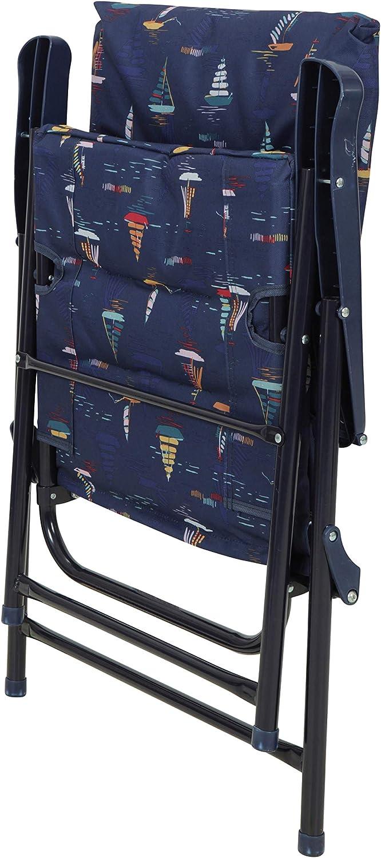 rembourr/é Tabouret Confortable Mountain Warehouse Chaise Pliante rembourr/ée pour Le Pique-Nique d/ét/é Durable la Plage Le Jardin Fauteuil l/éger Le Camping