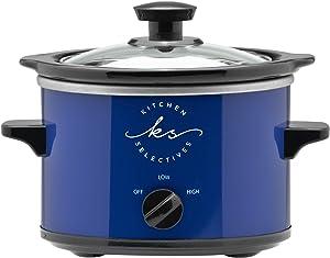 Kitchen Selectives Cobalt Blue 1½ Quart Round Slow Cooker