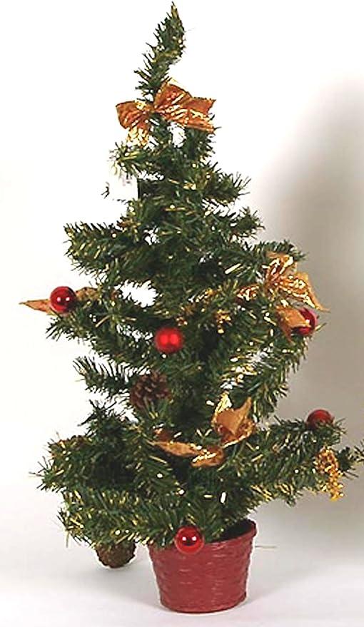 Albero Di Natale Addobbato Foto.Idea Natale Albero Alberello Natalizio Cm 20 Addobbato Rosso Amazon It Elettronica