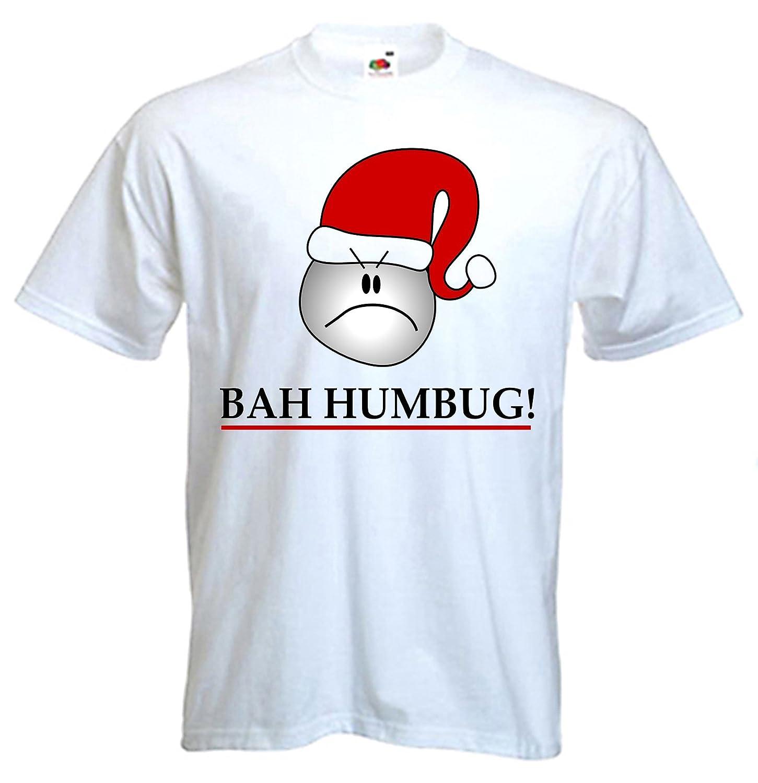 37ebeccf Humbug Scrooge Funny Christmas Men's T-Shirt: Amazon.co.uk: Clothing