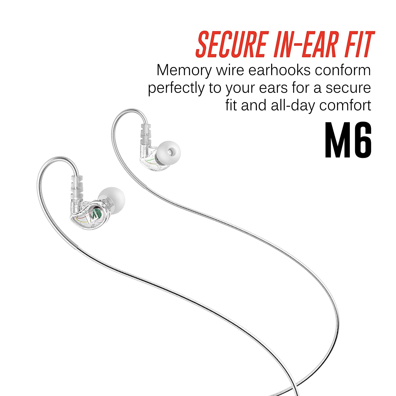 Mee Audio M6 Memory Wire In Ear Wired Sports Earbud Wiring New Home Technology Trends Headphones Clear 2018 Version Theater