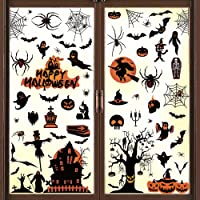 Halloween raamstickers Halloween raamdecoratie statische elektriciteit venster klampt stickers muurstickers vleermuizen…