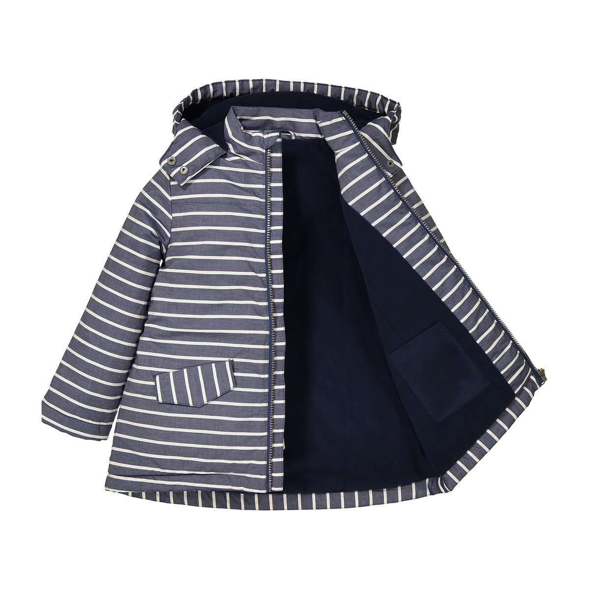 3-12 Years La Redoute Collections Big Girls Striped Parka