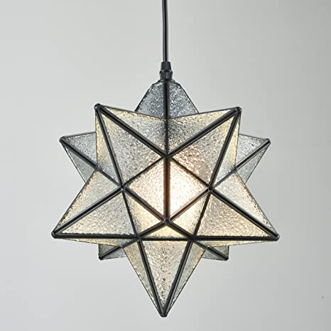 Yobo lighting moravian star textured glass pendant lamp 1 light 12 yobo lighting moravian star textured glass pendant lamp 1 light 12 in audiocablefo