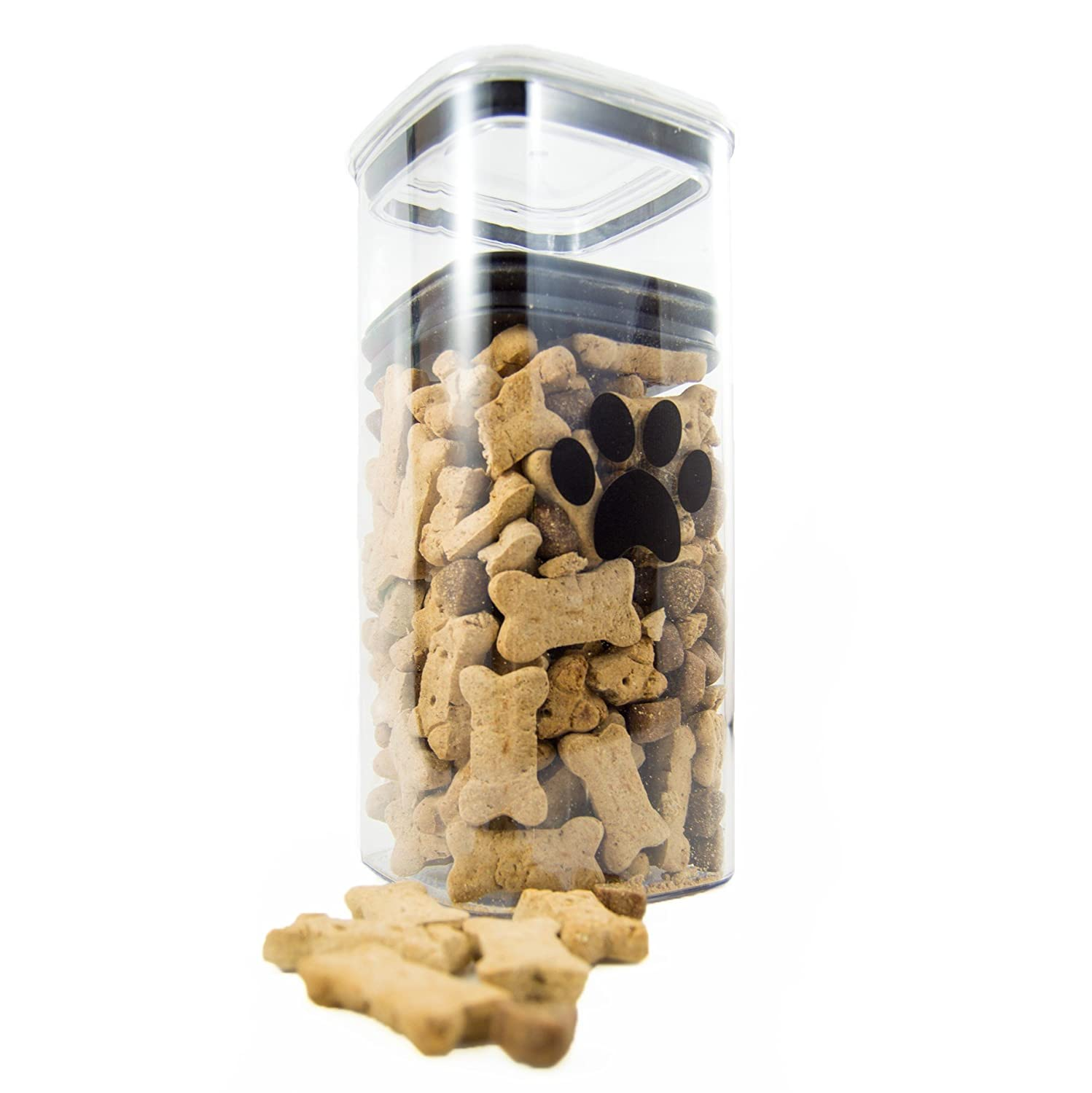 Airscape Pet Food and Treat Storage Container Patented Airtight Lid Preserves Food Freshness Clear Plastic 96 fl. oz