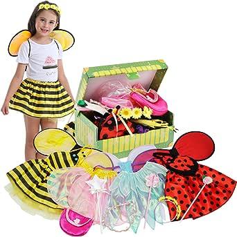 Amazon.com: Fedio Girls Princess Dress up Trunk Ladybug ...