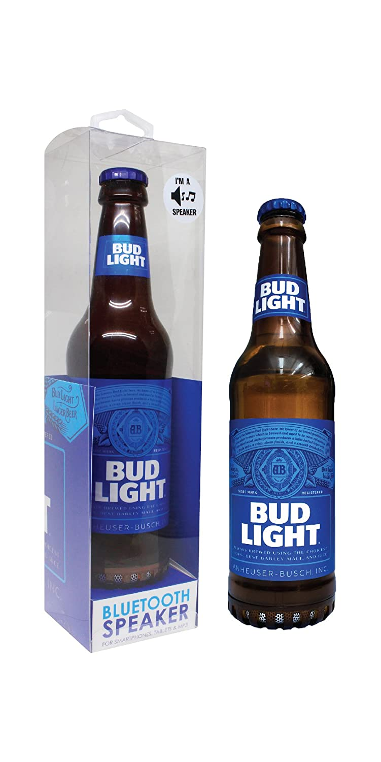 Amazon.com: Budlight Bluetooth Bottle Speaker Authentic Design Wireless Bud  Light Blue Speaker, Loud Audio Beer Speaker  BudLight Blue: Cell Phones U0026  ...