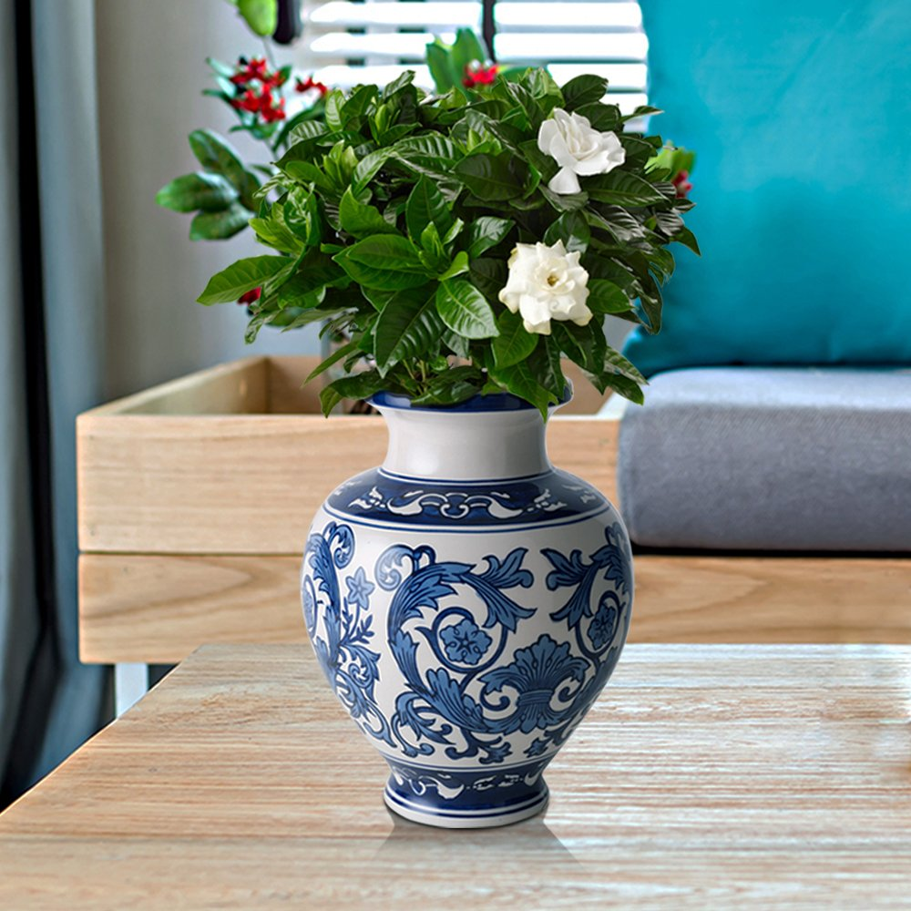 Amazoncom Zeesline Cobalt Blue and White Porcelain