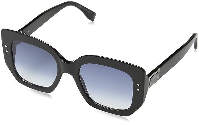 a640ba6a40ace1 Fendi Sonnenbrille FF0267S-80708-51, Montures de lunettes Femme, Noir  (Schwarz