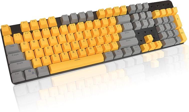 Tapas de Teclas PBT Keycaps RGB Translúcido Doble Disparo Perfil OEM Tapas de Teclas 104 Teclas para Teclado mecánico Cherry MX