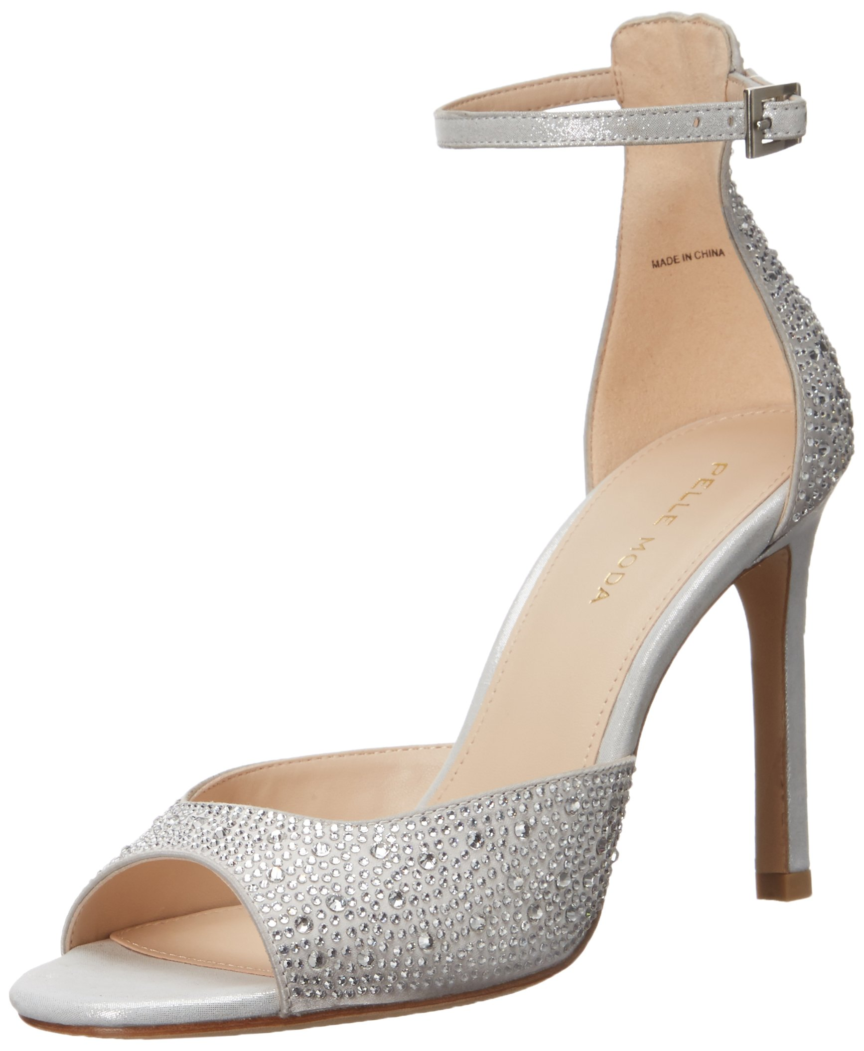 Pelle Moda Women's Erica Dress Sandal, Silver, 6.5 B US by Pelle Moda