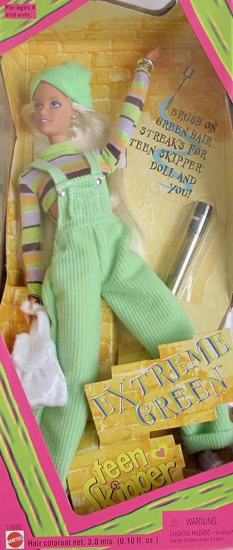Amazon Es Barbie Extreme Green Teen Skipper Doll 1997 Juguetes Y