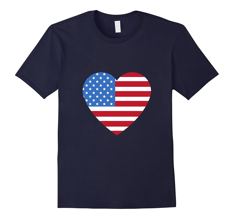 I love America T-Shirt Love heart Tee 4th of July-FL