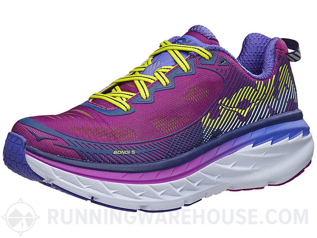 HOKA ONE ONE Shoe Women's Bondi 5 Running Shoe ONE B074D51SNW 11 B(M) US|Purple Cactus/Citrus c9fa09
