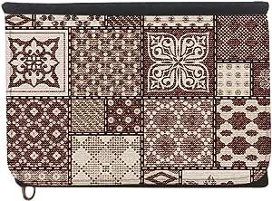 محفظة  بتصميم رسوم زخرفية تراثية، قماش جينز