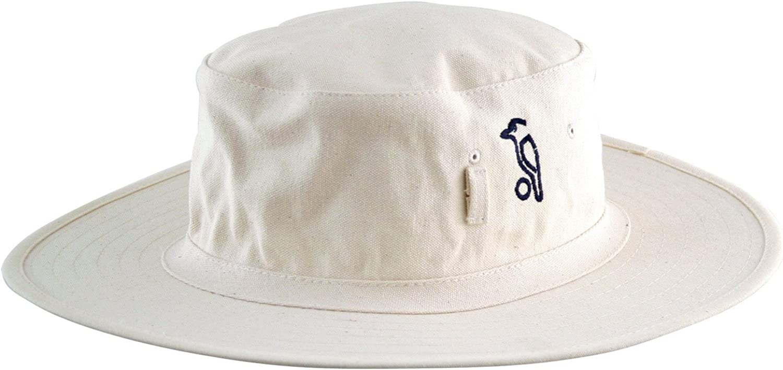 White Wide Brim Cricket Hat with green under brim 4 sizes fast post 1st class