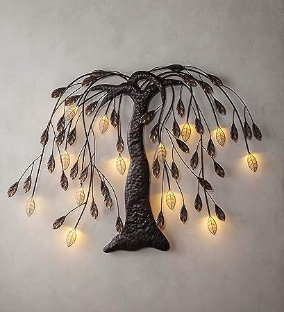 Amazon.com: Plow & Hearth Lighted Willow Tree Wall Art - 42 L x 3.3 ...