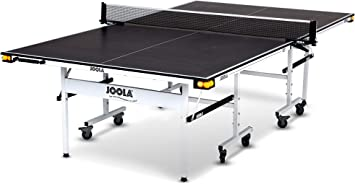 Amazon.com : JOOLA Rally TL - Professional MDF Indoor Table Tennis Table w/ Quick Clamp Ping Pong Net & Post Set - 10 Minute Easy Assembly - Corner Ball Holders - USATT