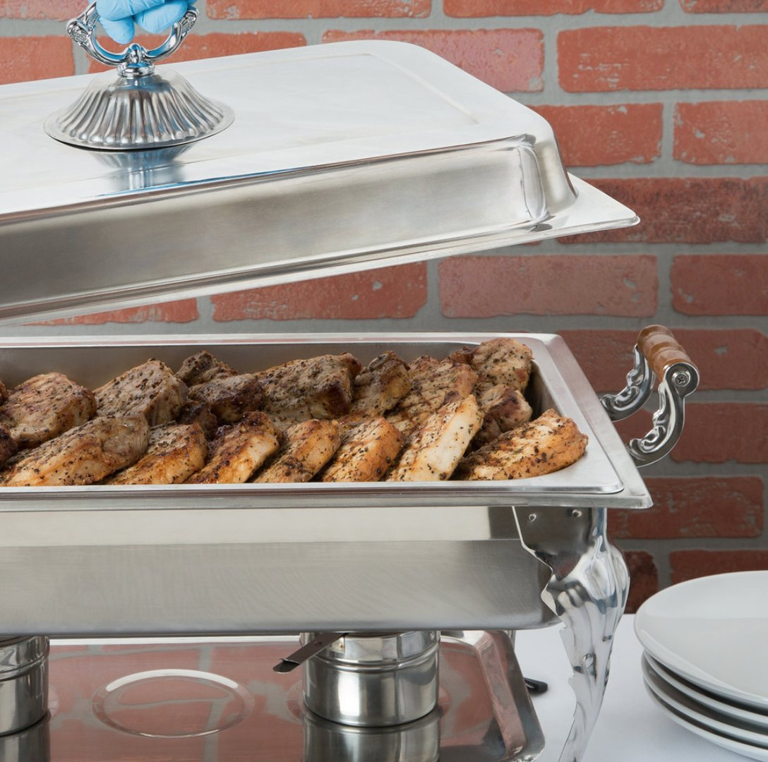4PACK Classic Rectangle 8 Qt. Stainless Steel Full Size Chafing Dish by HEDY4LESS (Image #6)