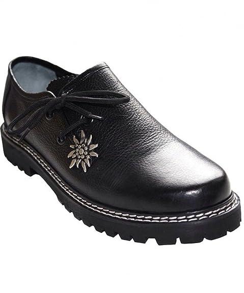 ch-home-design - Zapatos de cordones de Piel para hombre Negro negro, color Negro, talla 45 UE