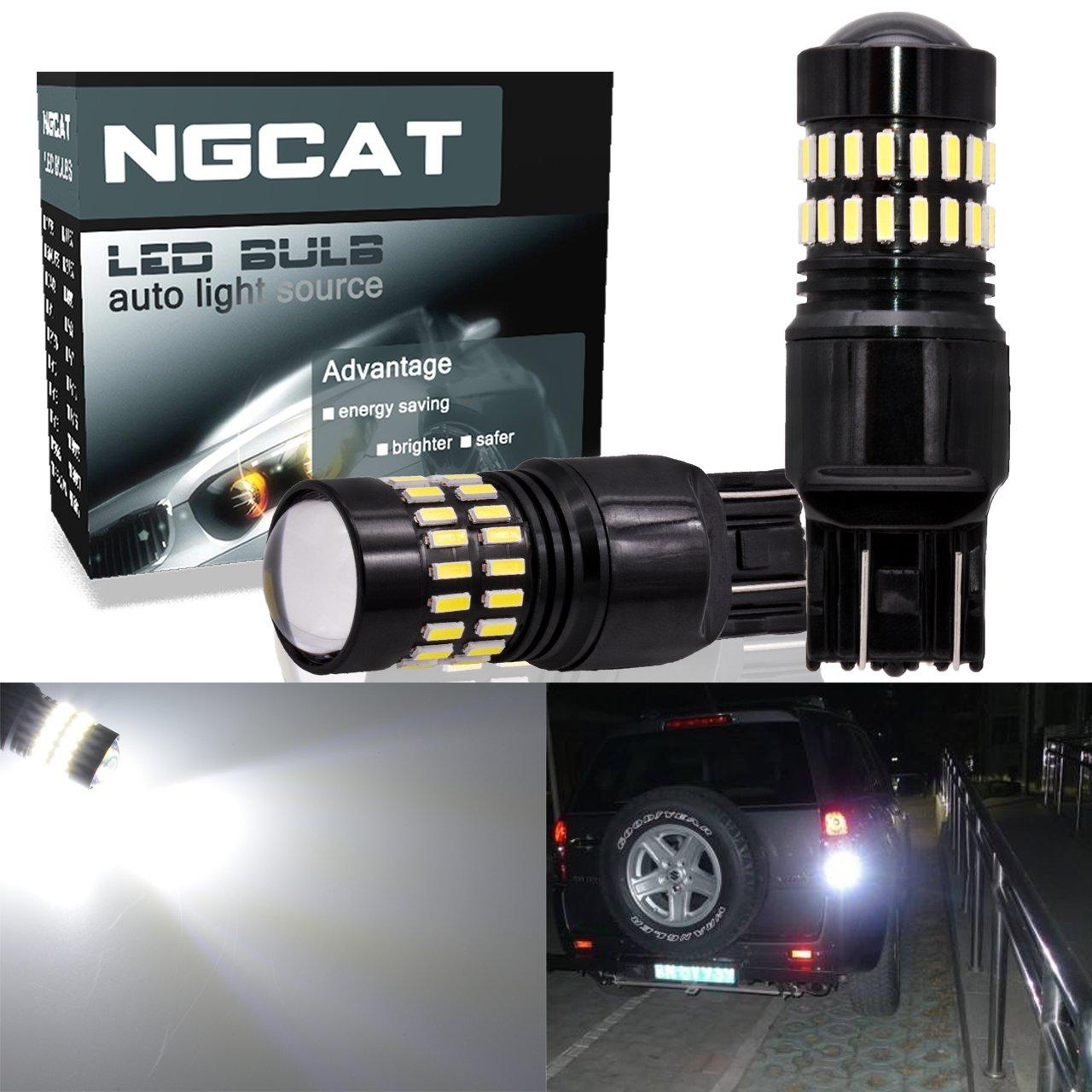 Ampoules LED NGCAT 1200LM très lumineuses 48-SMD 4014 - Ampoules à xénon blanc - Chipset pour LED T20 7444NA 7440 7440NA 7441 992 - Ampoules LED avec projecteur pour phares arrières (lot de 2 ampoules)