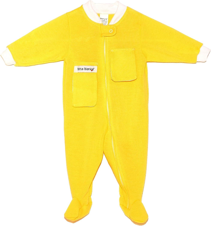 Bitta Kidda Baby Soother Baby Creeper Zipper Sleeper Baby Pajamas with Footies Lovey