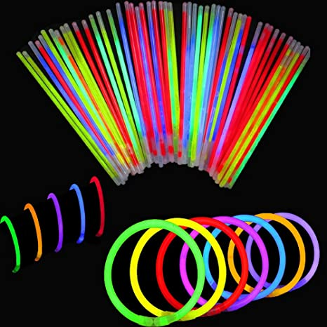 40534597b9d6 BBM  Solamente 100 Varitas Luminosas y 100 Conectores Reutilizables  Varitas  Luminosas Fluorescentes Pulseras Luminosas