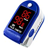 FaceLake ® FL400 Pulse Oximeter Fingertip with Carrying Case, Batteries, Lanyard, and Warranty (Blue)
