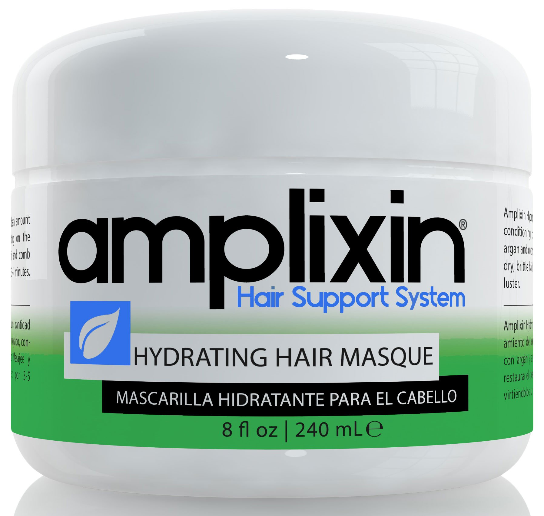 Amplixin Hydrating Hair Mask - Deep Conditioner Hair Treatment With Coconut & Argan Oil - Sulfate Free Hair Repair Conditioner For Men & Women With Dry, Damaged Hair, 8oz by Amplixin (Image #1)