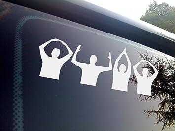 Ohio Buckeyes football silhouette vinyl window sticker decal
