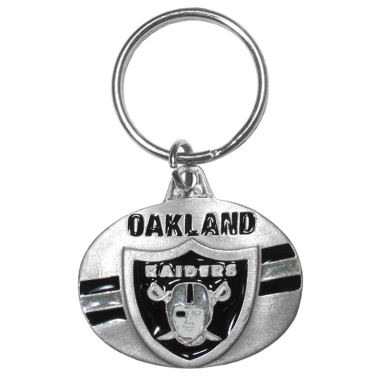 Siskiyou Sport Oakland Raiders Oval geschnitzt Metall Schl/üsselanh/änger