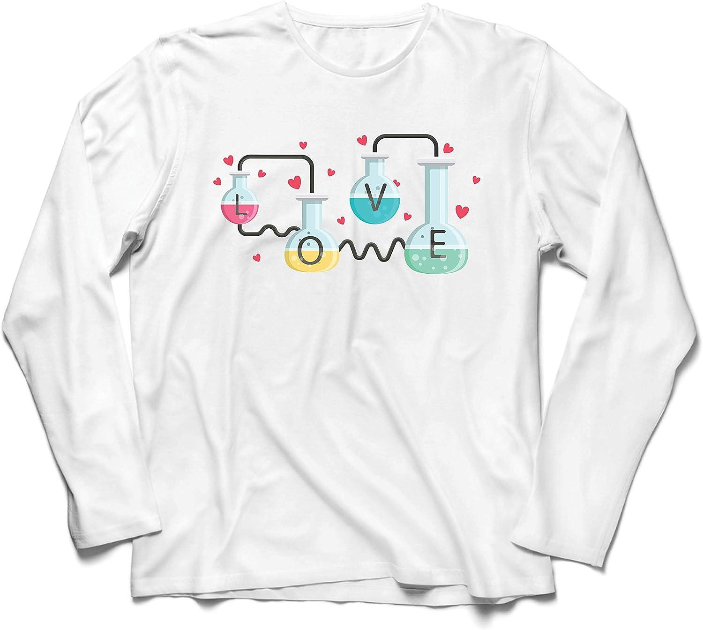 lepni.me Camiseta de Manga Larga para Hombre La fórmula del Amor, Ciencia, química - Regalo de San Valentín: Amazon.es: Ropa y accesorios