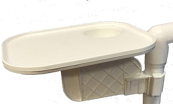 Amazon.com: PVC clip-on-table, Blanco: Jardín y Exteriores