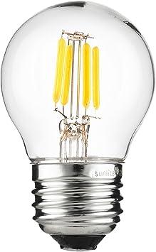 40W Equivalent 2200K Warm White Sunlite T12//LED//AQ//3W//DIM//CL//22K LED Vintage T12 3W E26 Base Light Bulb Medium