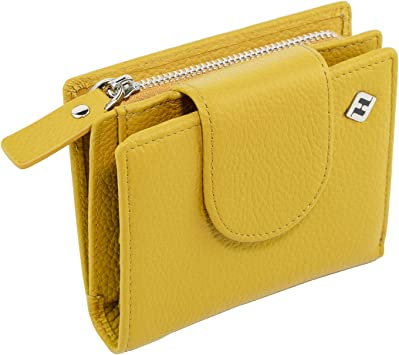 Damen Geldbörse Portmonee Portemonnaie Geräumig  Gelb