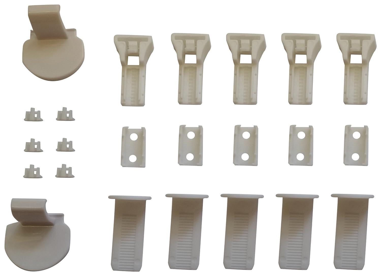 K-Home Palma. 02. SB Supports de Serrage et Accessoires Kit de Montage pour Store Klemmfix plissé, Plastique, 3,5x 2x 4cm, Blanc China Palma.02.SB