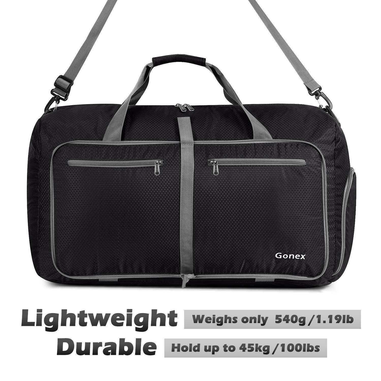714bac65fc Gonex 60L Foldable Travel Duffel Bag Water   Tear Resistant 10 Color Choices