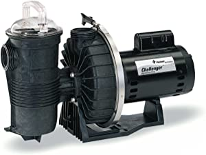 Pentair CHII-N1-1A Challenger Standard Efficiency Single Speed Up Rated High Pressure Inground Pump, 1 HP