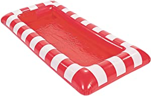 Fun Express Red and White Striped Carnival Inflatable Buffet Cooler - 4 feet Long - Party Supplies