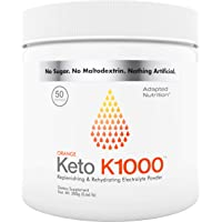 Keto K1000 Electrolyte Powder | Boost Energy & Beat Leg Cramps | No Maltodextrin or Sugar | Orange, Lighter Stevia Taste…