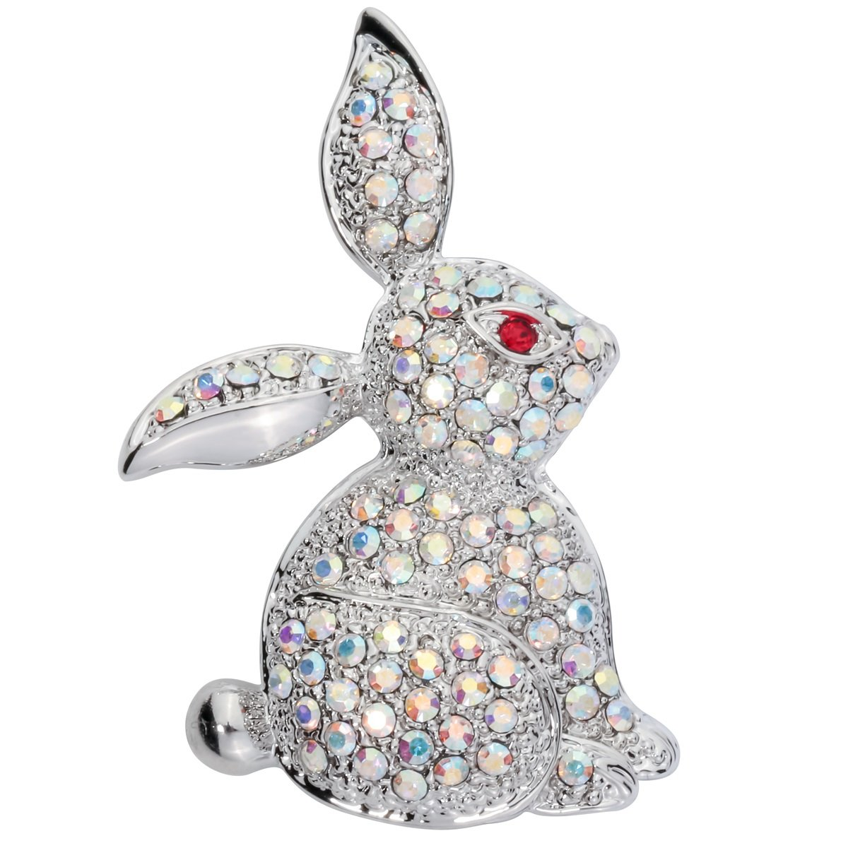 Szxc Jewelry Easter Bunny Rabbit Custom Brooch Pin For Women Teen Girls (white)