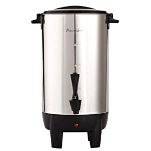 Continental Electric 30-Cup Coffee Urn, Stainless Steel Single Wall, PS77931