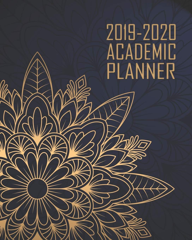 Academic Planner 2019-2020: Elegant Blue Gold Mandala ...