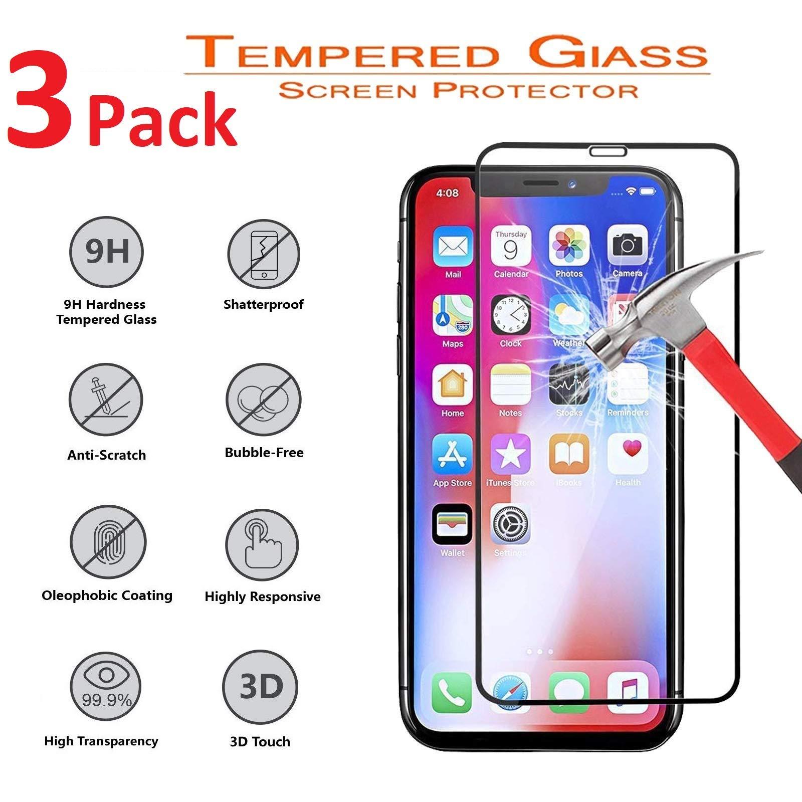 Vidrio Templado Para Iphone Xs Max [3 Un.] E-TECH