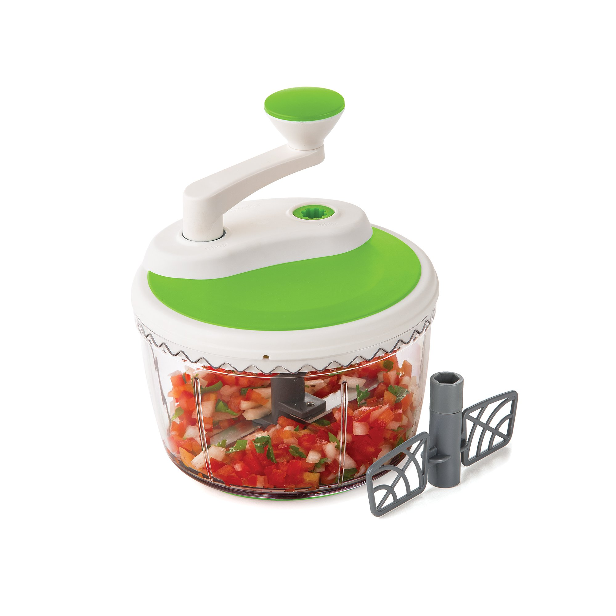 Prepworks by Progressive Dual Speed Chop & Whip, Two Speed Settings, Non-Skid Base, Whip Cream, Dressings, Mincing Onions, Salsa, Mixer, Vegetables, Coleslaw by Progressive International (Image #7)