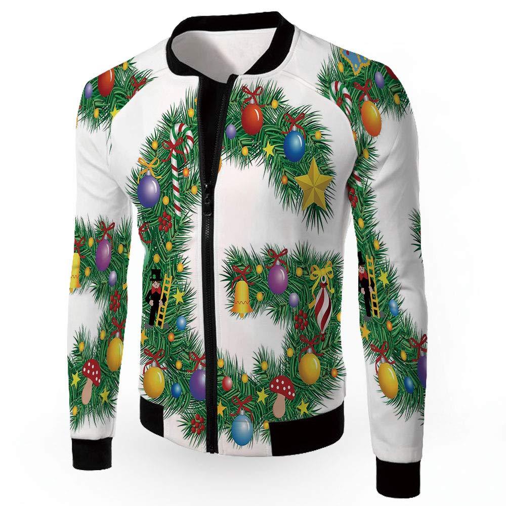 Multi24 Small iPrint Jackets,Letter E,Men's Lightweight Zipup Windproof Windbreaker Jacket,Seasonal